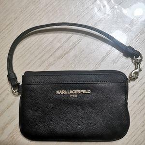 KARL Lagerfeld Paris Leather Wristlet